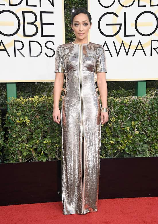 Ruth Negga at the 2017 Golden Globes