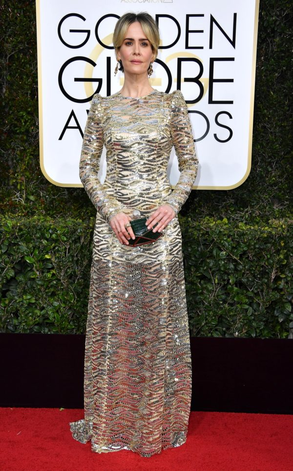 Sarah Paulson at the 2017 Golden Globes