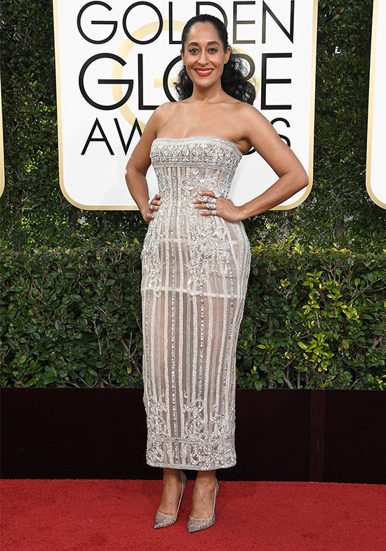 Tracee Ellis Ross at the 2017 Golden Globes