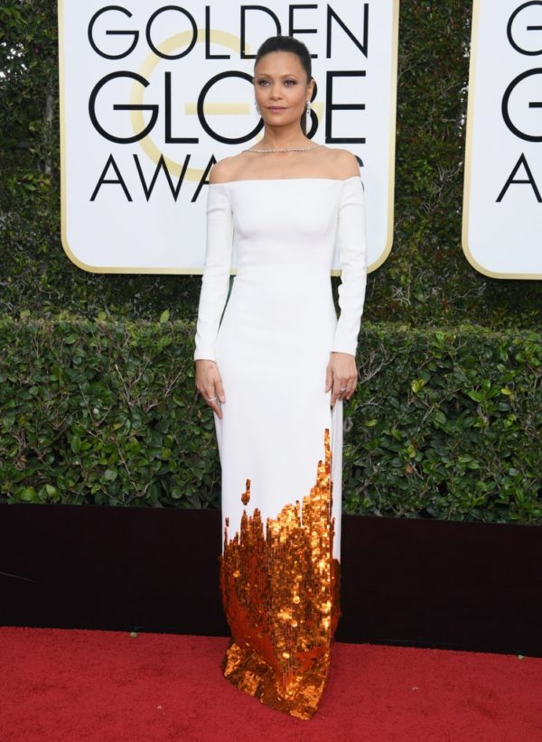 Thandie Newton at the 2017 Golden Globes