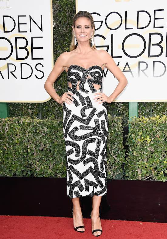 Heidi Klum at the 2017 Golden Globes
