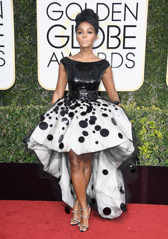 Jannelle Monae at the 2017 Golden Globes
