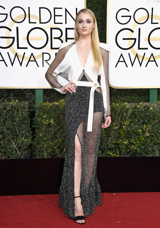 Sophia Turner at the 2017 Golden Globes