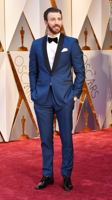 Oscars 2017 Trends- Chris Evans in Salvatore Ferragamo