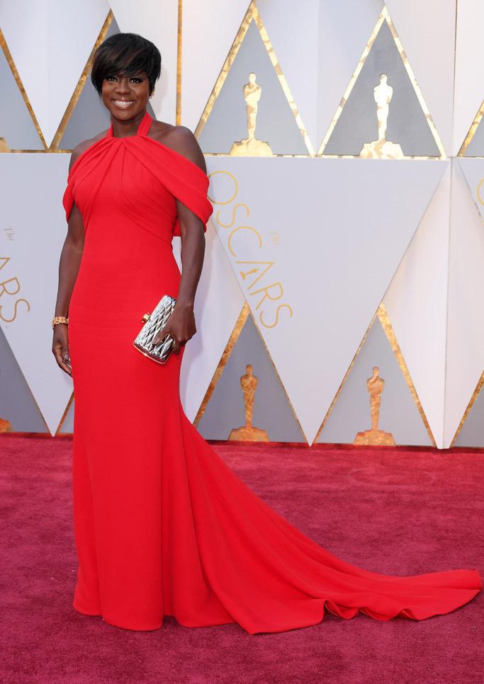 Oscars 2017 Trends- Viola Davis in Armani Privé