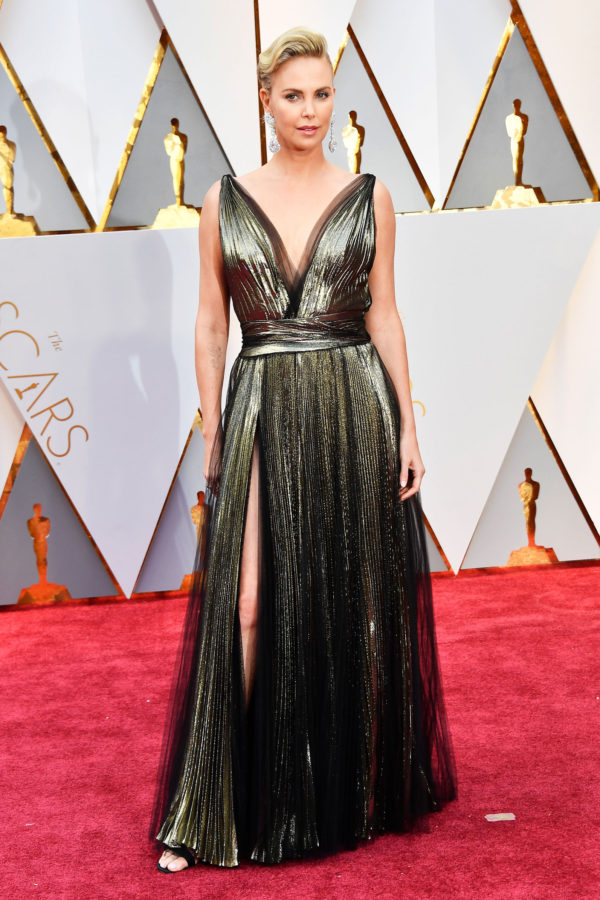 OSCARS Trends -Charlize Theron in Dior Couture