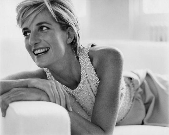 Princess Diana shot by Mario Testino for Vanity Fair
