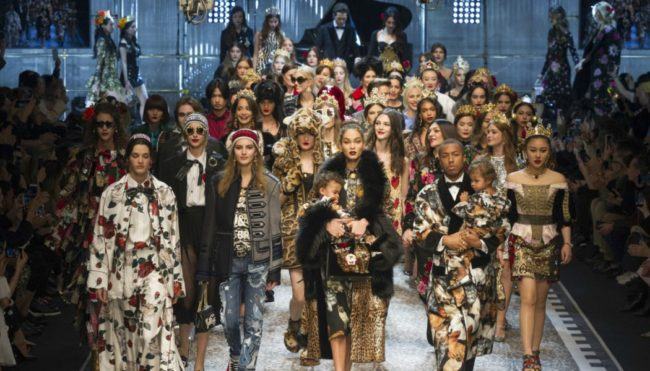 Dolce and Gabbana's Fall 2017 dramatic finale at Milan Fashion Week Fall 2017