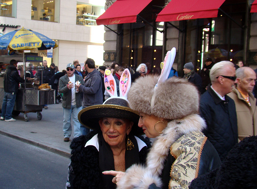 NYC's Easter Parade with its parade of fashion and fur