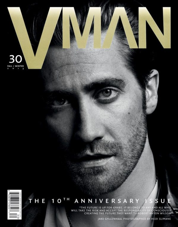 HEDI SLIMANE SHOOTS JAKE GYLLENHAAL FOR COVER OF VMAN #30