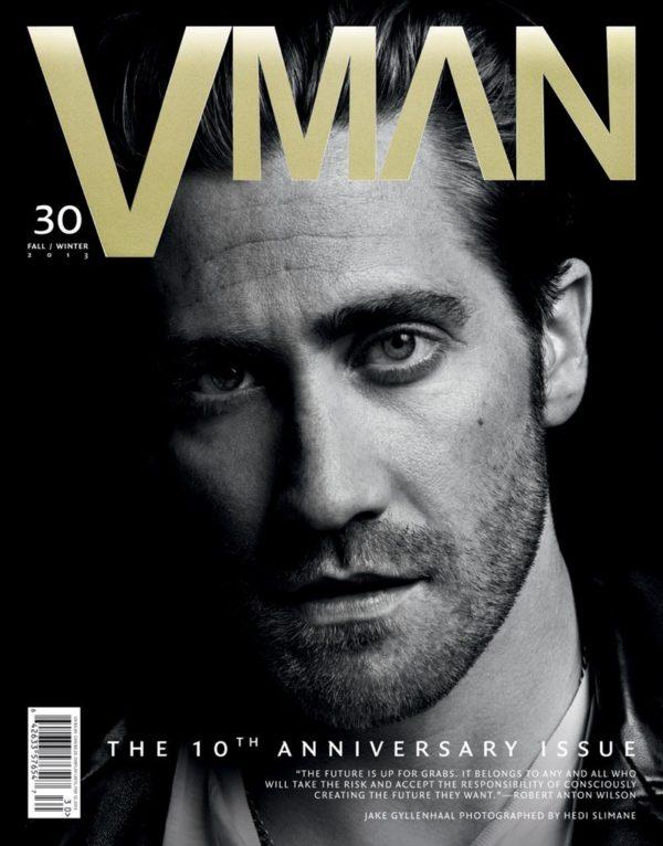 HEDI SLIMANE SHOOTS JAKE GYLLENHAAL FOR COVER OF VMAN #30