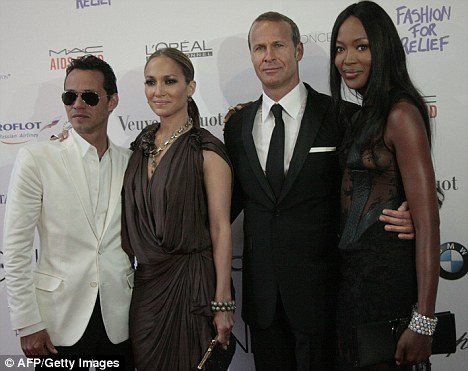 Jennifer Lopez, Marc Anthony, Russian businessman, and former boyfriend, Vladimir Doronin, and British supermodel Naomi Campbell