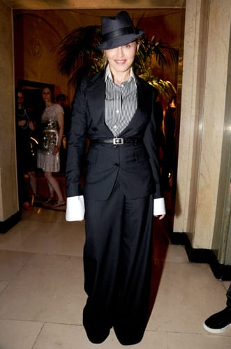 Madonna wearing a creation by Hedi Slimane
