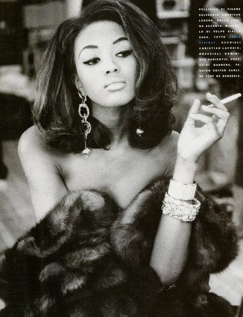 NAOMI CAMPBELL Italian Vogue Editorial September 1990 Photos: Patrick Demarchelier