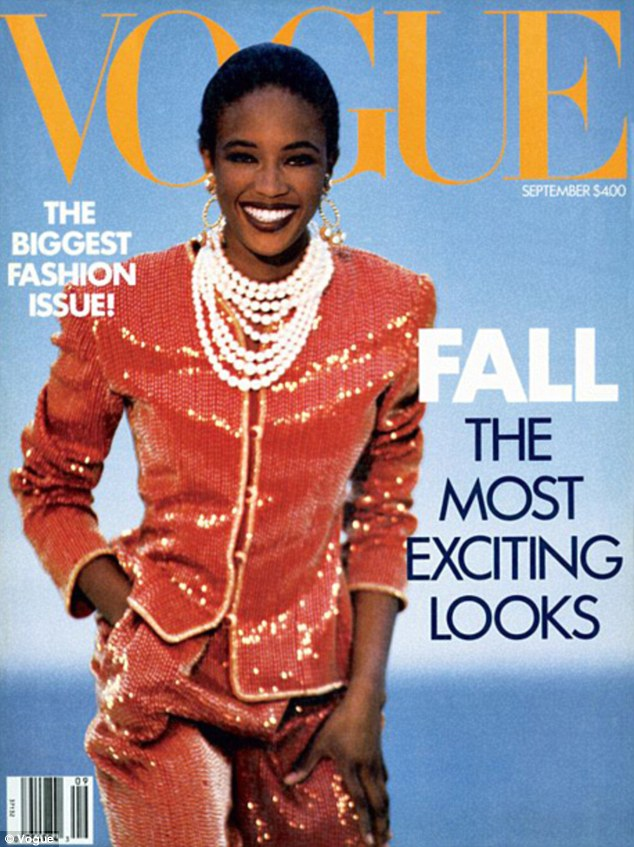 Naomi Campbell very first Vogue magazine cover from September 1989, Anna Wintour made the bold choice and never looked back