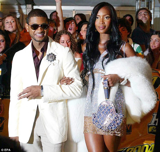 Naomi Campbell and singer Usher