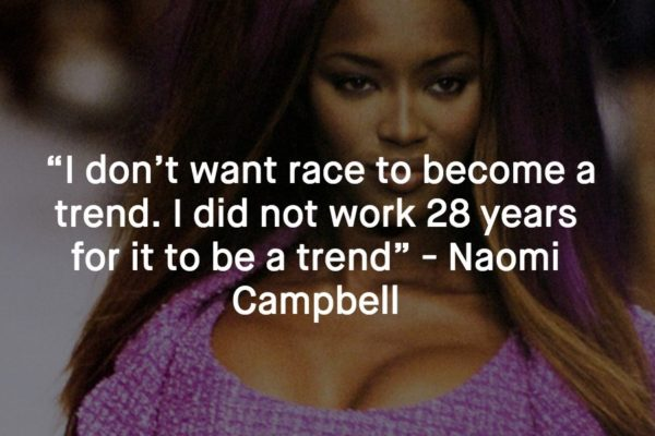 In the cutthroat world of modelling, which was and is especially unkind to women of color, Naomi used her tough-as-nails and no-nonsense attitude to carve out a space for herself at the top of the pyramid.