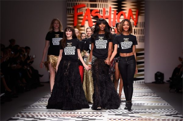 Naomi walks the catwalk to raise money to figt the deadly Ebola virus