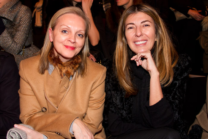 Nina Garcia and Alison-Edmond front row at Nina Ricci PFW Fall/Winter 2013 show