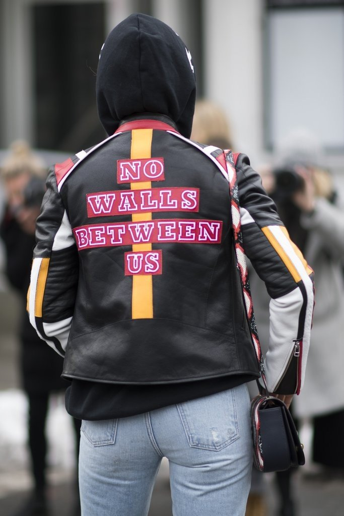 Political statements dominated the 2017 streetstyle trends at NYFW