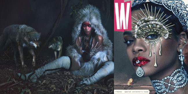 Rihanna for W's September, 2016 styled by Edward Enninful