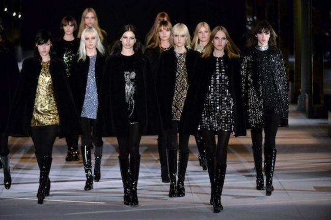 Saint Laurent Fall 2014 under Hedi Slimane