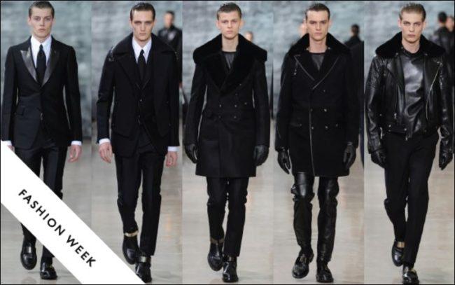 Yves Saint Laurent Menswear Fall 2012 under Hedi Slimane