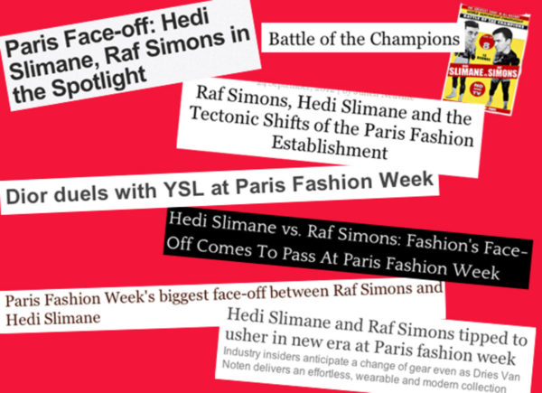 Hedi Slimane fashion news stories