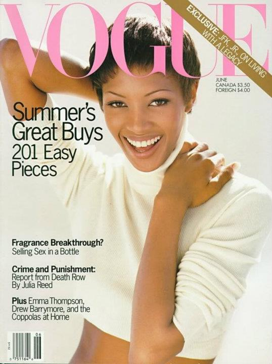Naomi Campbell on the cover of Vogue June 1993