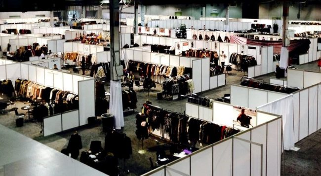 A bird's eye view of the ILOE Show floor before it's opening