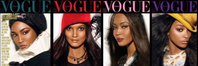 """Black Issue"" for Vogue Italia in 2008 styled by Edward Enninful"