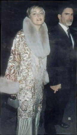 Sharon Stone in one of Landau's elaborate evening jackets