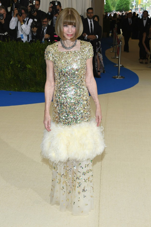 Anna Wintour at 2017 Met Ball