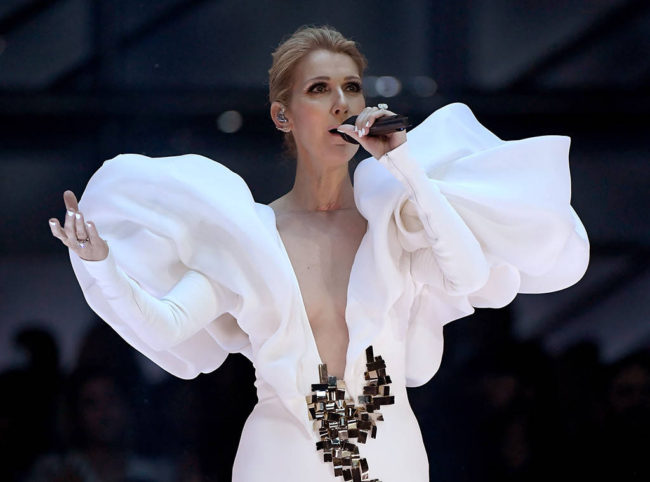 An angel deserves to dress like one. Céline Dion at the 2017 Billboard Music Awards