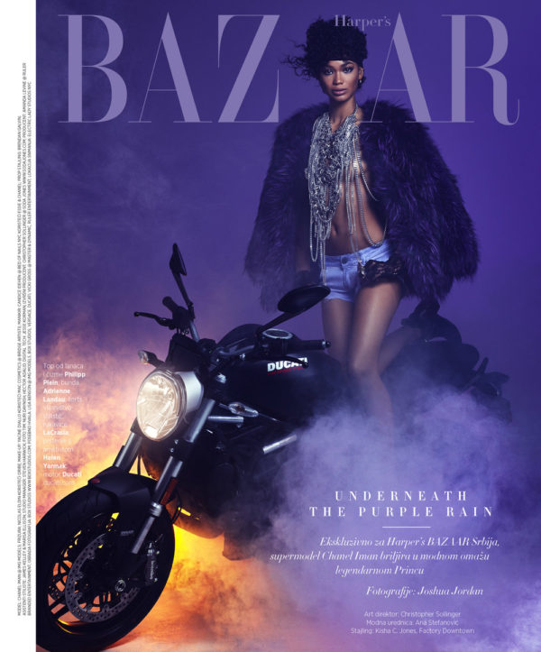 Chanel Iman on the cover of Harper's BAZAAR Serbia June 2016