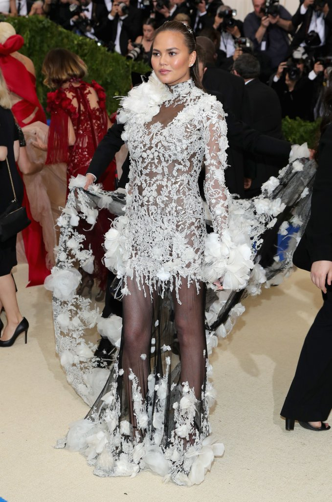 Chrissy Teigen in Marchesa at 2017 Met Ball