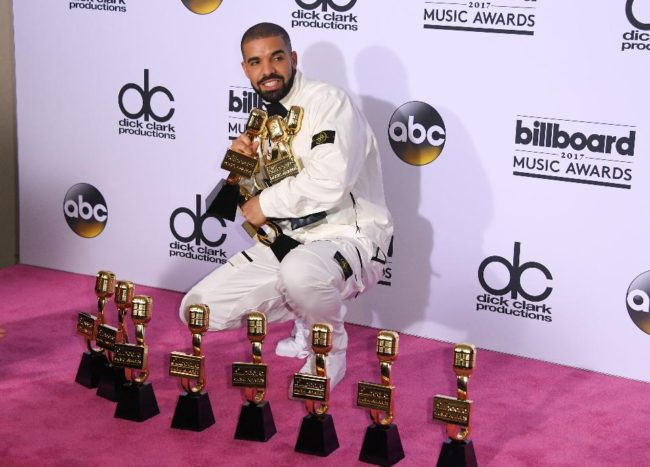 The night's big winner. Drake Broke The Record For The Most Wins In One Night At The 2017 Billboard Music Awards