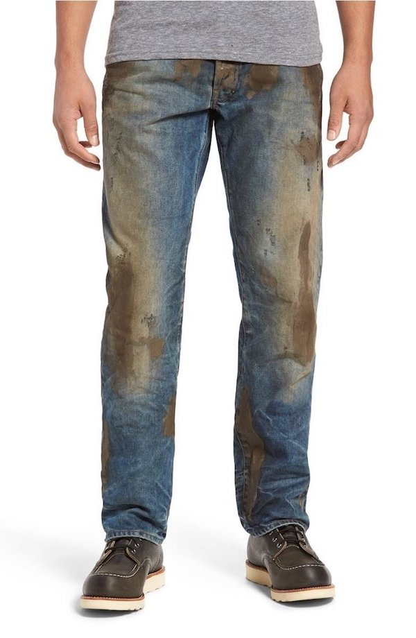 Fake mud covered jeans sold at Nordstrom are a part of their luxury fashion line