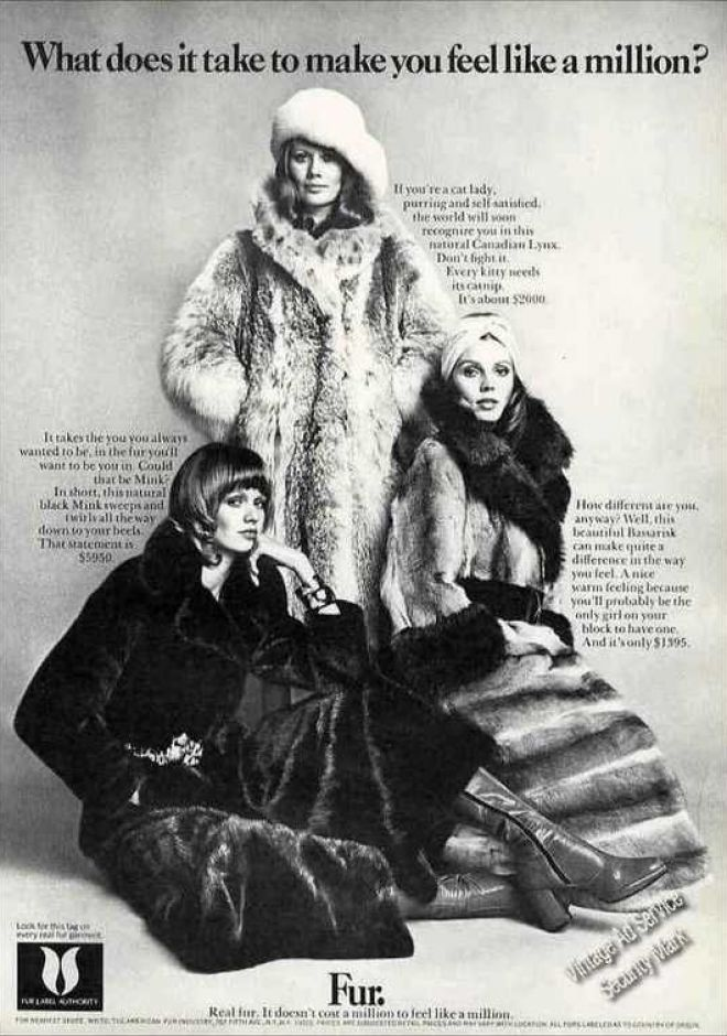 "Fur Fashion Ad ""Makes You Feel Like a Millionaire"""