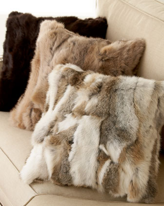 Fur Pillows from the Adrienne Landau collection