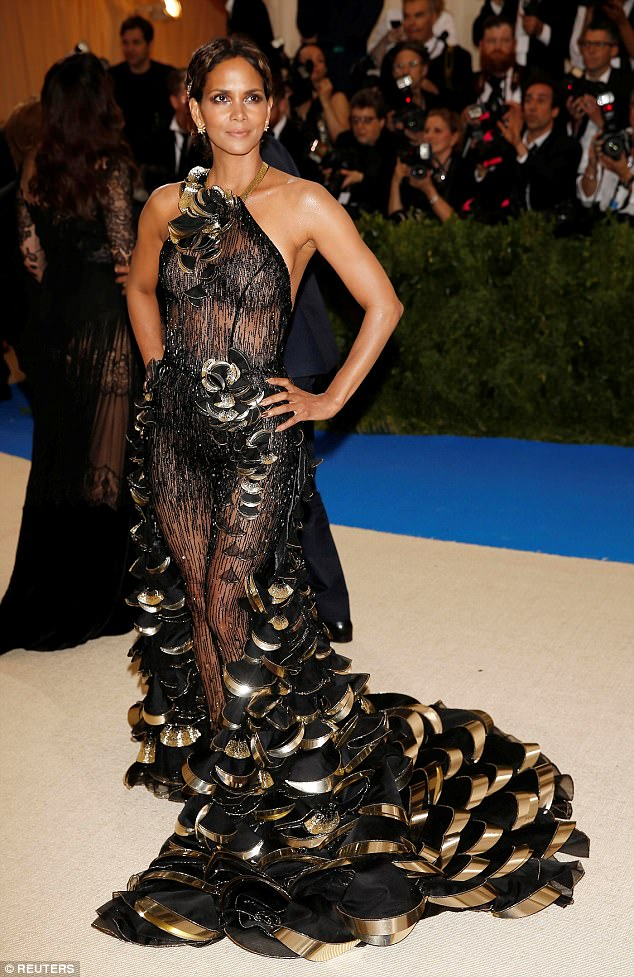 Halle Berry at 2017 Met Ball