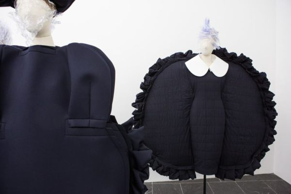 "the official Metropolitan Museum of Art exhibit is called ""Rei Kawakubo/Comme des Garcons: Art Of The In-Between"""