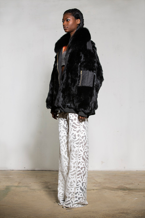 Oversized bomber jacket by Adrienne Landau
