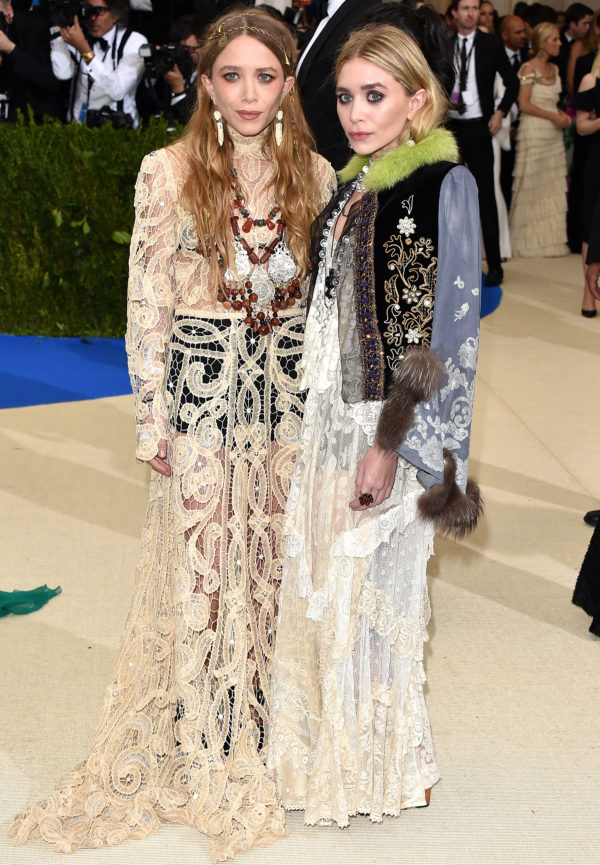 Mary-Kate and Ashley Olsen at 2017 Met Ball