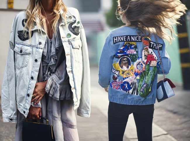 Luxury fashion denim streetstyle trends are trending towards heavily embellishments