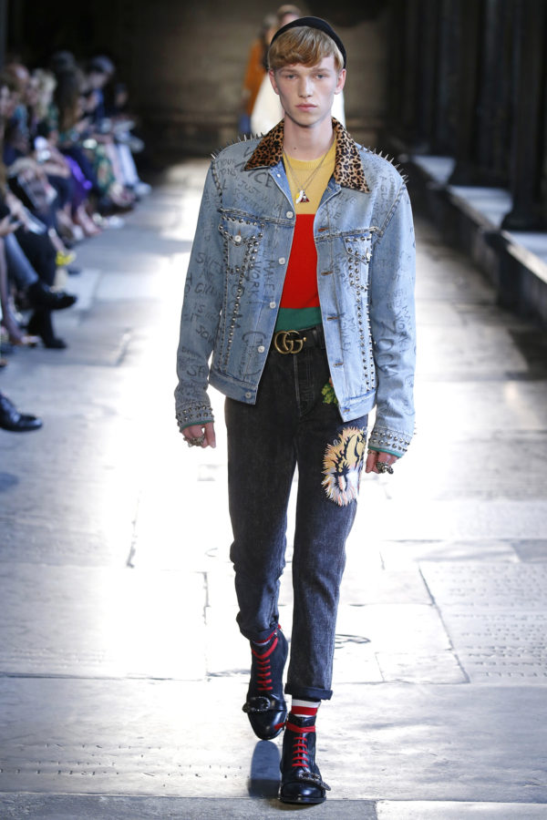 Gucci Resort 2017 luxury fashion denim
