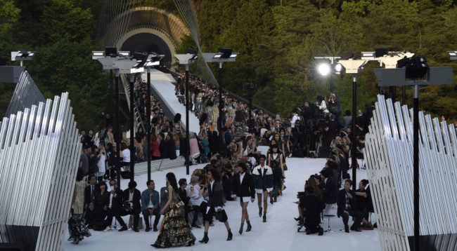 Louis Vuitton headed to Kyoto in Japan to present their Cruise 2018 Collection