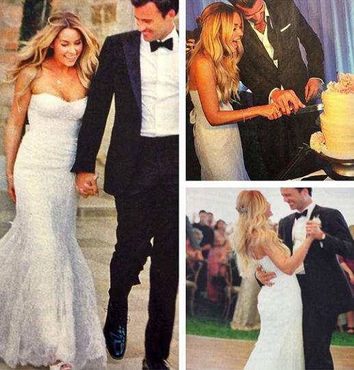 Reality star Lauren Conrad wore a Moniwue Lhuillier dress for her own wedding
