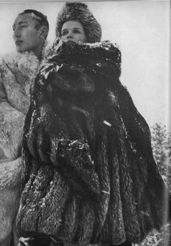 Veruschka in US Vogue's feature The Great Fur Caravan (ph. Richard Avedon, 1966)