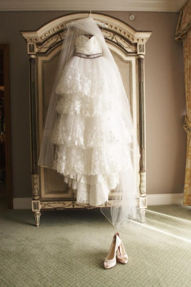 Monique Lhuillier's dresses are a big part of the ambiance of any bride's big day